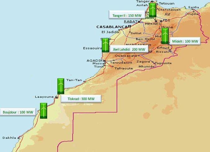Maroc parcs eoliens