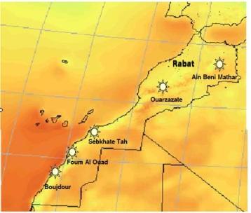 Sites centrales solaires Maroc